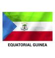 equatorial flag design vector image