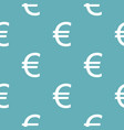 euro symbol pattern seamless blue vector image vector image