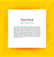 fast food paper template vector image vector image