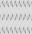 Flat gray with wavy hatched shapes vector image vector image