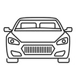 front modern car icon outline style vector image vector image