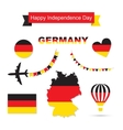 Germany flag decoration elements Banners labels vector image