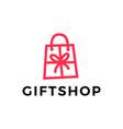 gift shop shopping bag logo icon