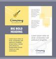 guitar company brochure title page design company vector image vector image
