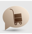 Hand truck sign Brown gradient icon on bubble vector image vector image
