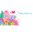 happy pregnancy card baby shower invitation vector image vector image