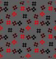 hashtag icon seamless pattern hashtag random vector image vector image