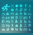 Human resource icons Retina set vector image vector image