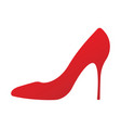 icon of a shoes women s high-heeled vector image