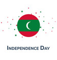 independence day of maldives patriotic banner vector image vector image