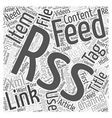 JP RSS feed Word Cloud Concept vector image vector image