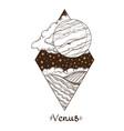 landscape of planet rhombus venus vector image vector image