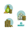 money and investment vector image vector image