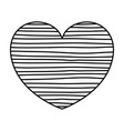 monochrome silhouette of lines in heart shape vector image vector image