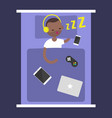new technologies addiction young black man vector image vector image