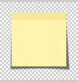 office yellow paper sticky note glued to vector image
