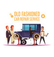 old fashioned car cartoon vector image vector image