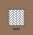 parquet flooring flat icon object vector image