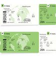 pattern of a boarding pass concept of travel vector image vector image