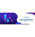 personal voice assistant isometric 3d banner vector image