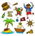 pirate set vector image vector image