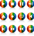 Player buttons vector image