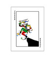 playing card for poker with joker and elements vector image