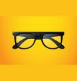 realistic black glasses vector image vector image