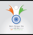 Republic Day greeting with unity symbol vector image vector image
