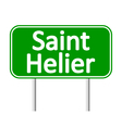 Saint Helier road sign vector image vector image