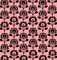 Seamless Folk Pink And Black Background vector image