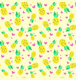 seamless pattern pineapple tropical summer vector image vector image