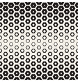 Seamless White And Black Hexagon Halftone vector image vector image