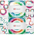 set of abstract color backgrounds vector image