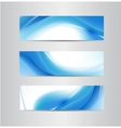 set of abstract wavy banners vector image vector image