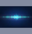 sound waves audio signal amplitude neon wavy vector image vector image