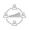 team work money icon vector image