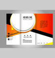 template design trifold brochure with polygons