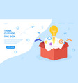 think outside box web page template vector image