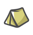 tourist tent for travel and camping icon vector image vector image
