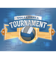 Volleyball Tournament Label vector image vector image
