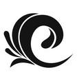 wave tsunami icon simple black style vector image vector image