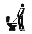 wc funny symbol man or gentleman peeing in vector image