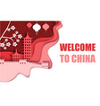 welcome to china poster paper cut vector image vector image