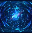 abstract futuristic swirl vector image