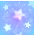 Blue blurred stars abstract background vector image