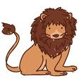 Doodle lion vector image