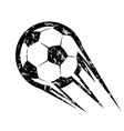 soccer ball football symbol in grunge style vector image