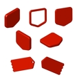 Set of red free tags buttons and icons vector image