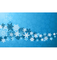 Christmas blue snowflakes background vector image